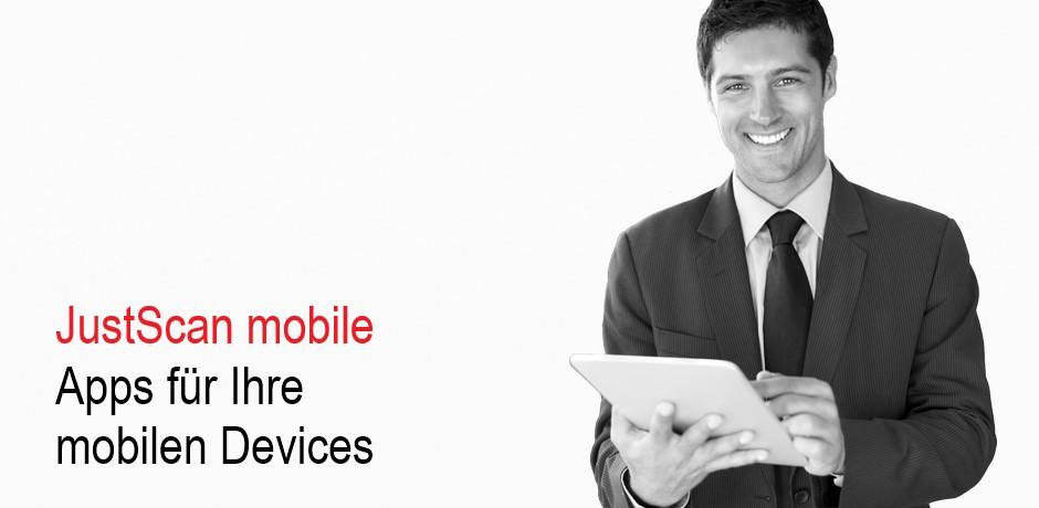 JustScan mobile - Apps für Ihr iPad und iPhone.